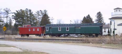 Train cars at Rapid River, MI